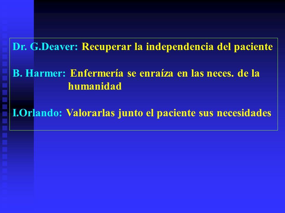 Dr.G.Deaver: Recuperar la independencia del paciente B.