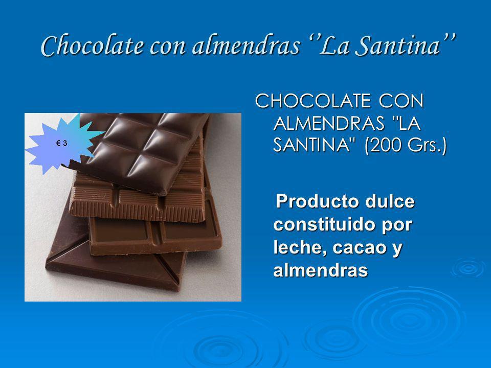 Chocolate con almendras La Santina CHOCOLATE CON ALMENDRAS