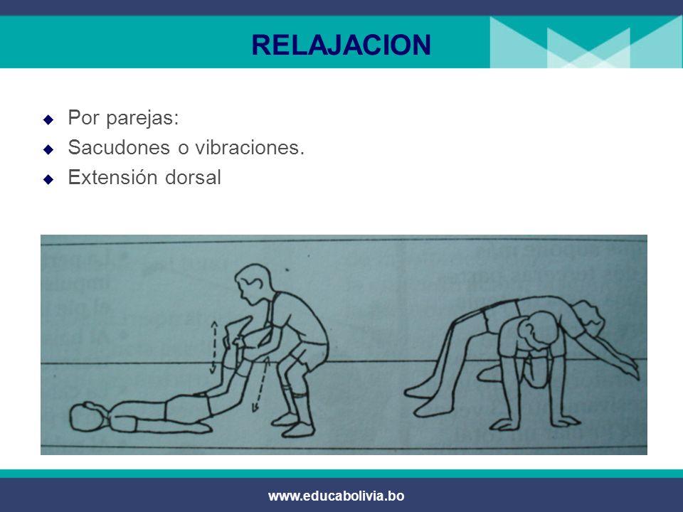 www.educabolivia.bo RELAJACION Relajación de la parte baja de la espalda.