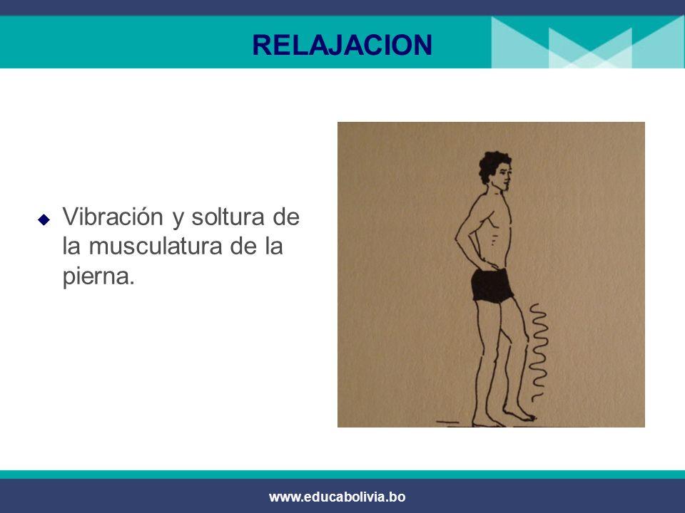 www.educabolivia.bo RELAJACION Vibración y soltura de la musculatura de brazos