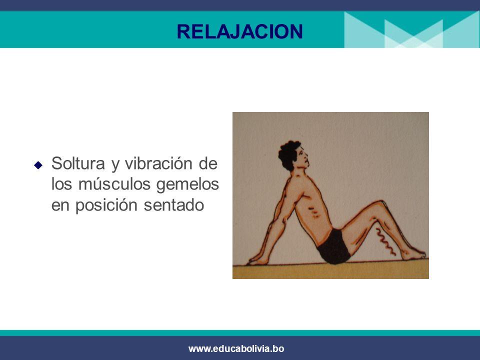 www.educabolivia.bo RELAJACION Rotación interna y externa del pie para soltar los tendones propios de los pies