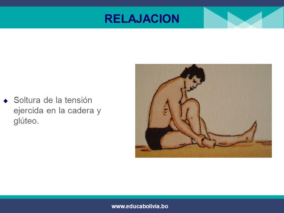 www.educabolivia.bo RELAJACION Soltura y vibración de los músculos gemelos en posición sentado