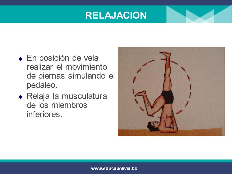 www.educabolivia.bo RELAJACION Por Parejas: Sacudones de los gemelos.