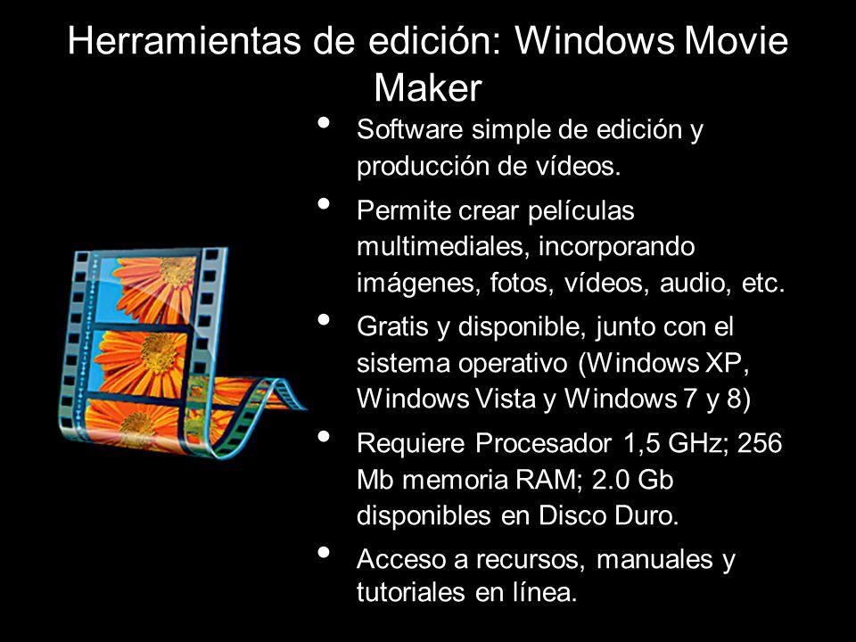 Software simple de edición y producción de vídeos. Permite crear películas multimediales, incorporando imágenes, fotos, vídeos, audio, etc. Gratis y d