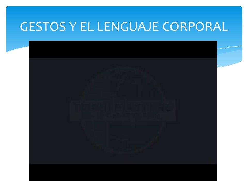 GESTOS Y EL LENGUAJE CORPORAL