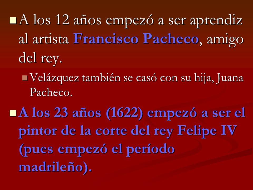 Obras por Pacheco, su profesor Un retrato de Pacheco por Velázquez