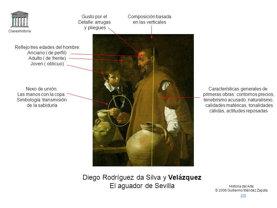 Claseshistoria Historia del Arte © 2006 Guillermo Méndez Zapata Diego Rodríguez da Silva y Velázquez El aguador de Sevilla Composición basada en las v