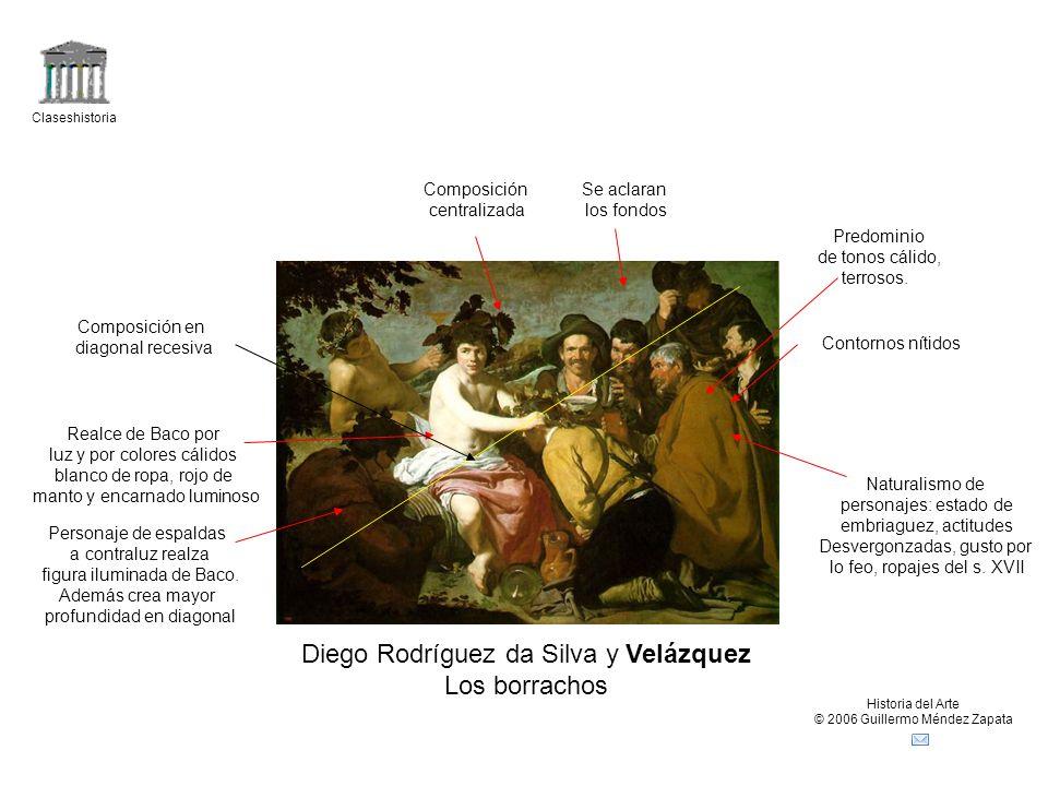 Claseshistoria Historia del Arte © 2006 Guillermo Méndez Zapata Diego Rodríguez da Silva y Velázquez Los borrachos Naturalismo de personajes: estado d