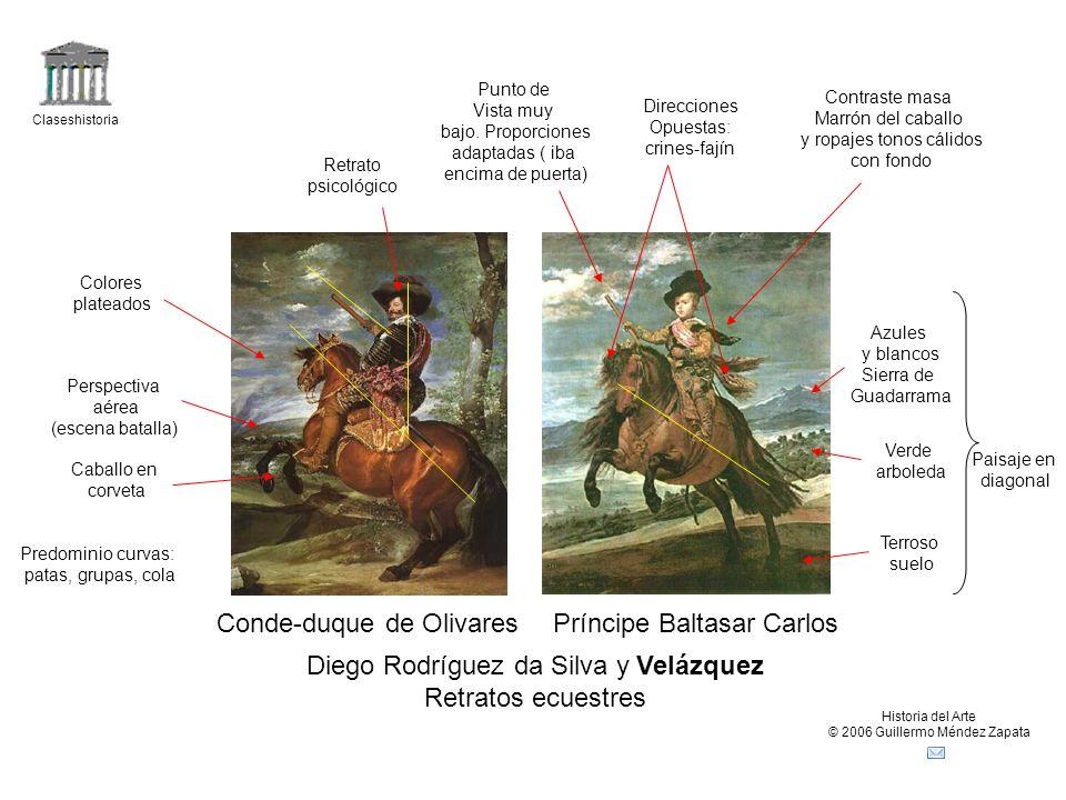 Claseshistoria Historia del Arte © 2006 Guillermo Méndez Zapata Diego Rodríguez da Silva y Velázquez Retratos ecuestres Conde-duque de OlivaresPríncip
