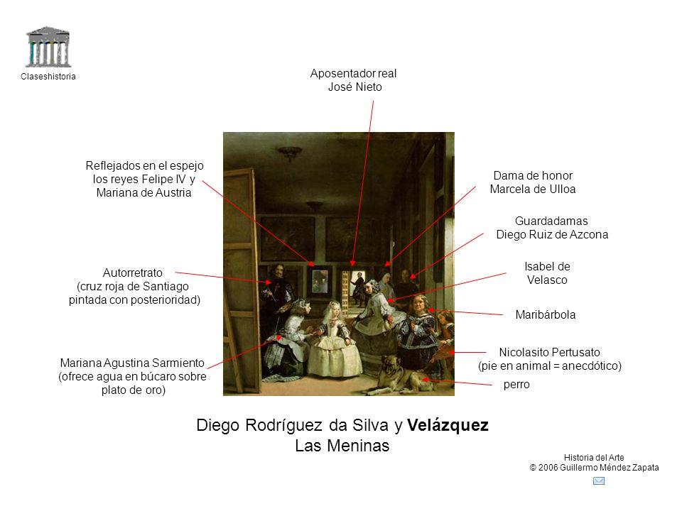 Claseshistoria Historia del Arte © 2006 Guillermo Méndez Zapata Diego Rodríguez da Silva y Velázquez Las Meninas perro Nicolasito Pertusato (pie en an
