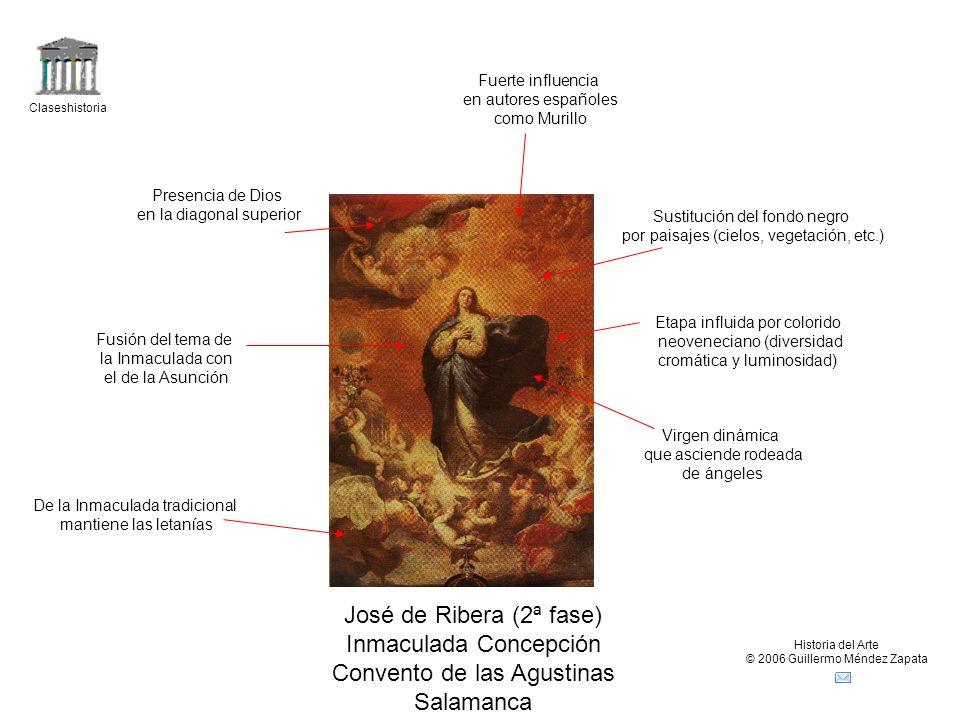 Claseshistoria Historia del Arte © 2006 Guillermo Méndez Zapata Bartolomé Esteban Murillo Inmaculada Concepción del Escorial Inmaculada Concepción de Soult Influencia de Ribera.