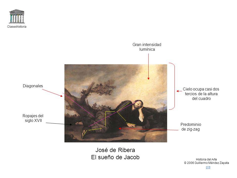 Claseshistoria Historia del Arte © 2006 Guillermo Méndez Zapata Diego Rodríguez da Silva y Velázquez Los borrachos Naturalismo de personajes: estado de embriaguez, actitudes Desvergonzadas, gusto por lo feo, ropajes del s.