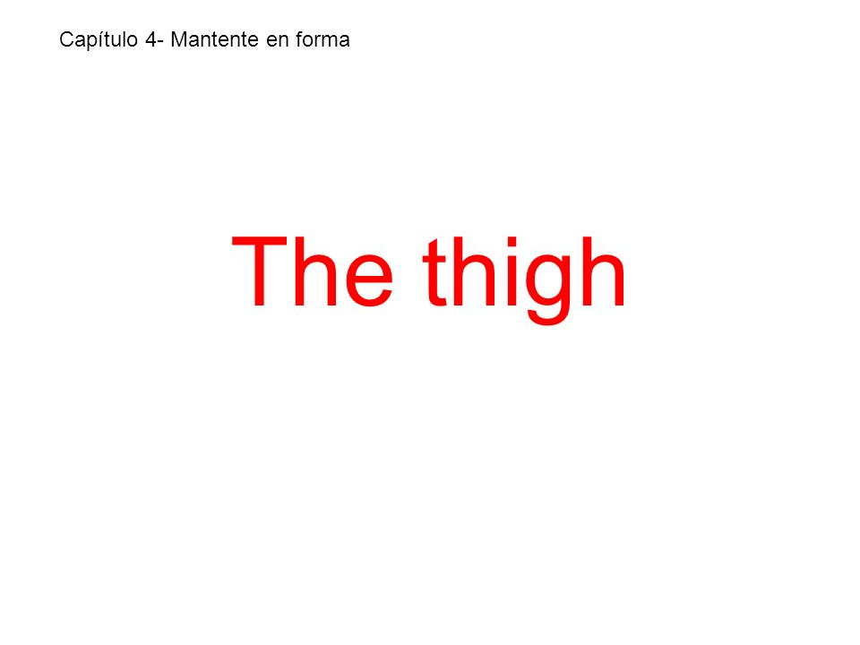 The thigh Capítulo 4- Mantente en forma