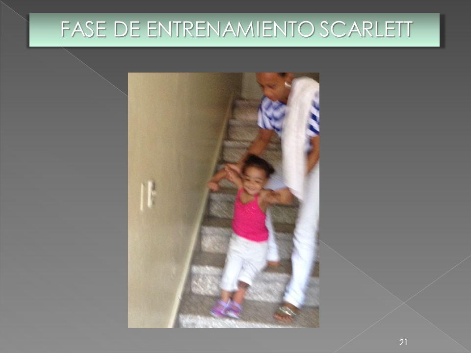 21 FASE DE ENTRENAMIENTO SCARLETT