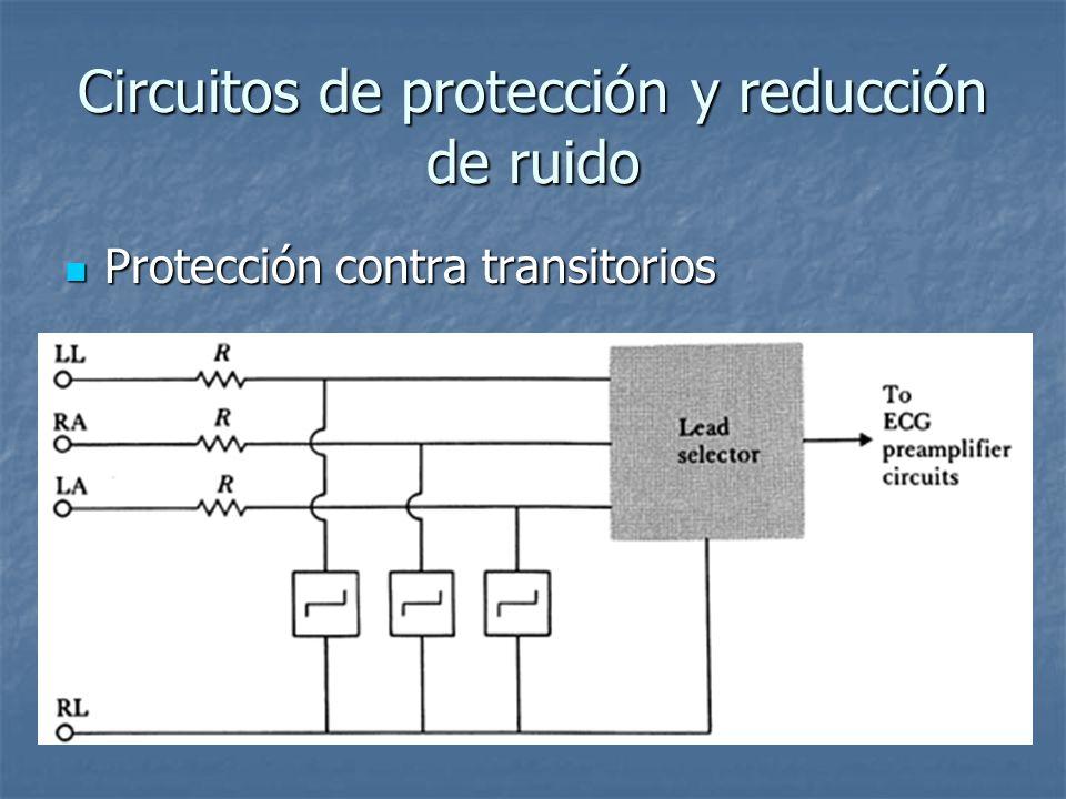 Circuitos de protección y reducción de ruido Protección contra transitorios Protección contra transitorios