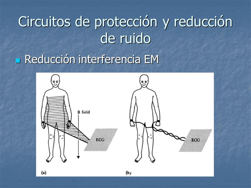 Circuitos de protección y reducción de ruido Reducción interferencia EM Reducción interferencia EM