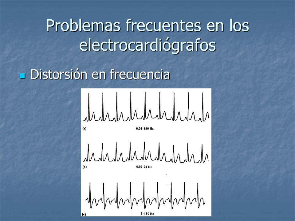 Problemas frecuentes en los electrocardiógrafos Distorsión en frecuencia Distorsión en frecuencia