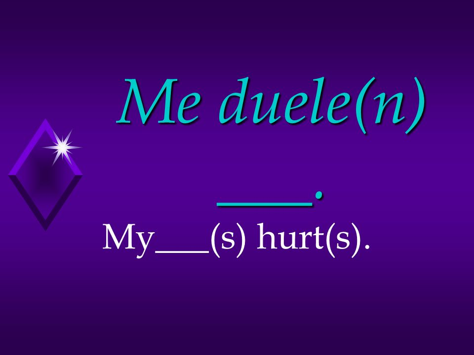 ¿Qué te duele Whats hurting you