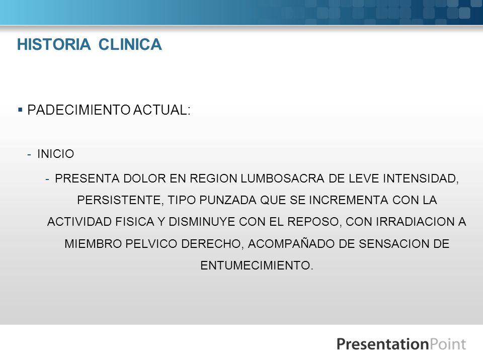Ciática El diagnóstico diferencial es similar para la mielopatía e incluye: 1.
