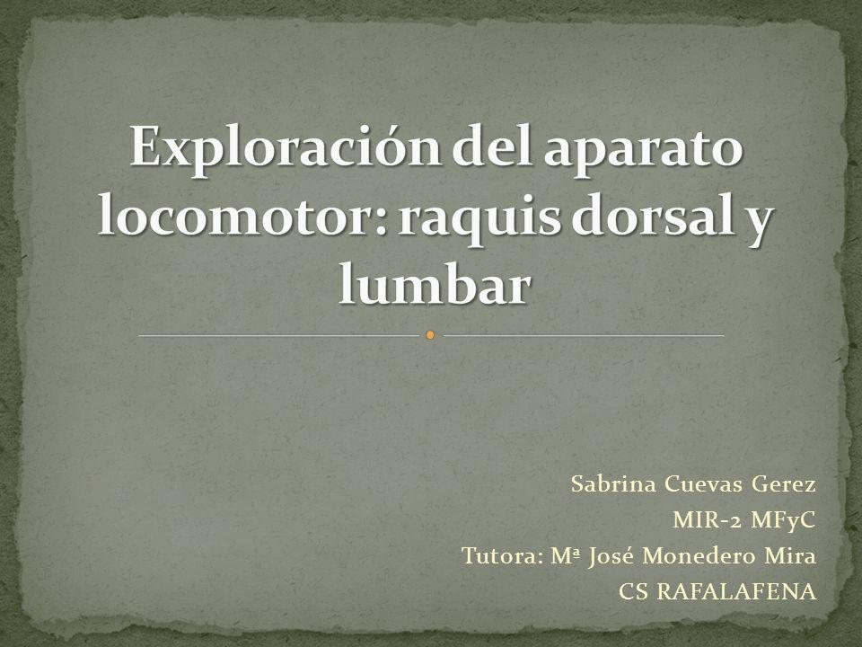 Sabrina Cuevas Gerez MIR-2 MFyC Tutora: Mª José Monedero Mira CS RAFALAFENA