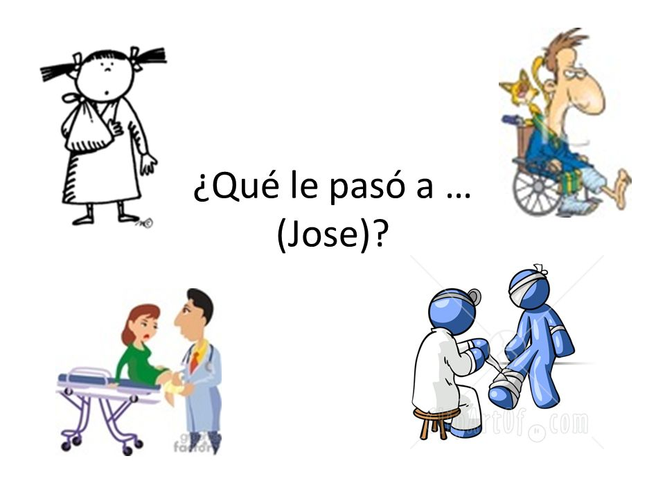 ¿Qué le pasó a … (Jose)?