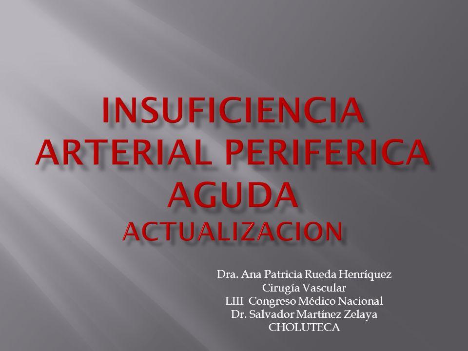 Dra.Ana Patricia Rueda Henríquez Cirugía Vascular LIII Congreso Médico Nacional Dr.