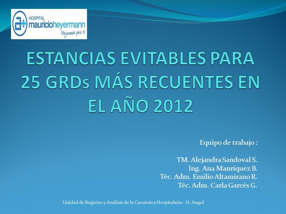 Equipo de trabajo : TM.Alejandra Sandoval S. Ing.