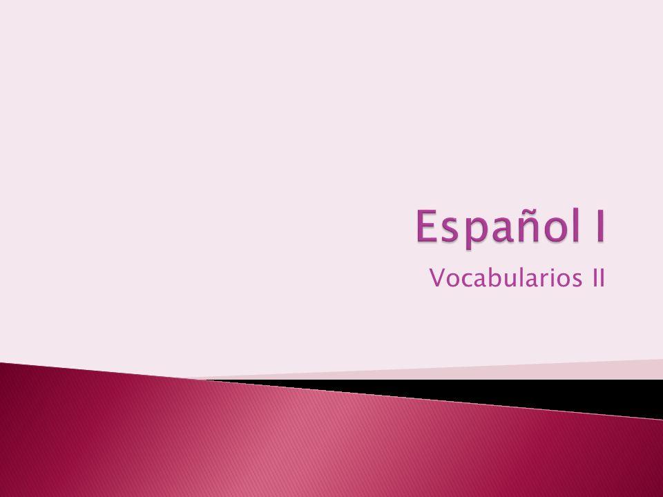 Vocabularios II