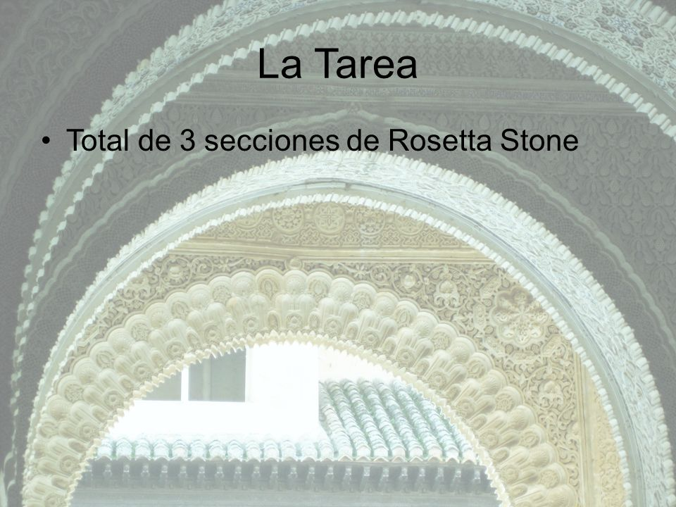 La Tarea Total de 3 secciones de Rosetta Stone