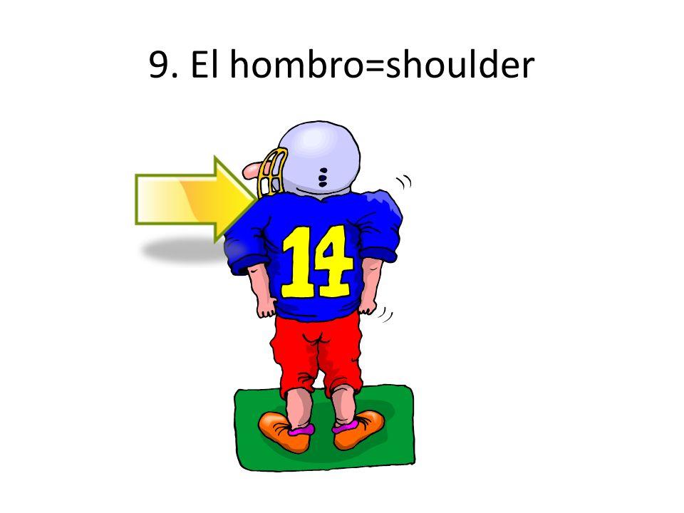 9. El hombro=shoulder