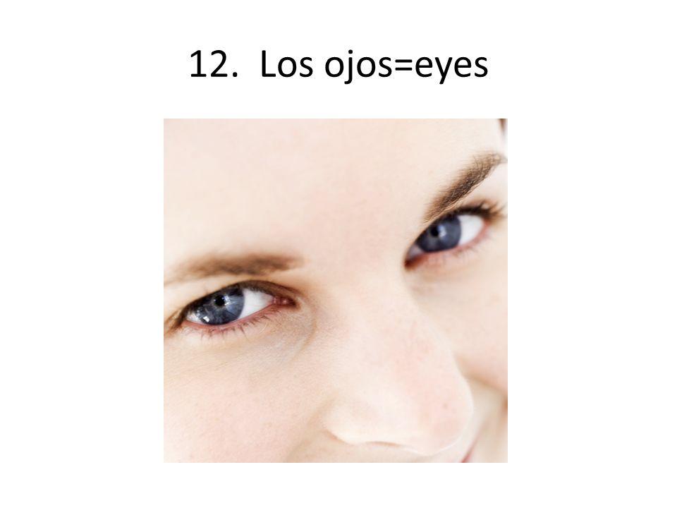 12. Los ojos=eyes