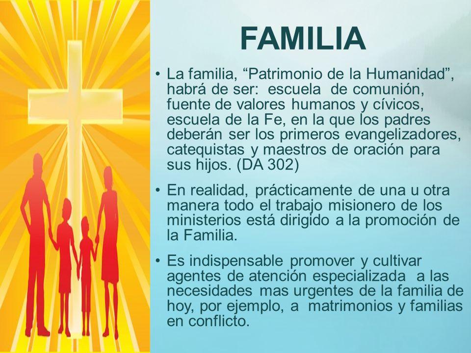 JOVENES El ministerio de Jóvenes se responsabiliza de la tarea de misionar en el sector parroquial; para detectar a los jóvenes desorientados en su vi