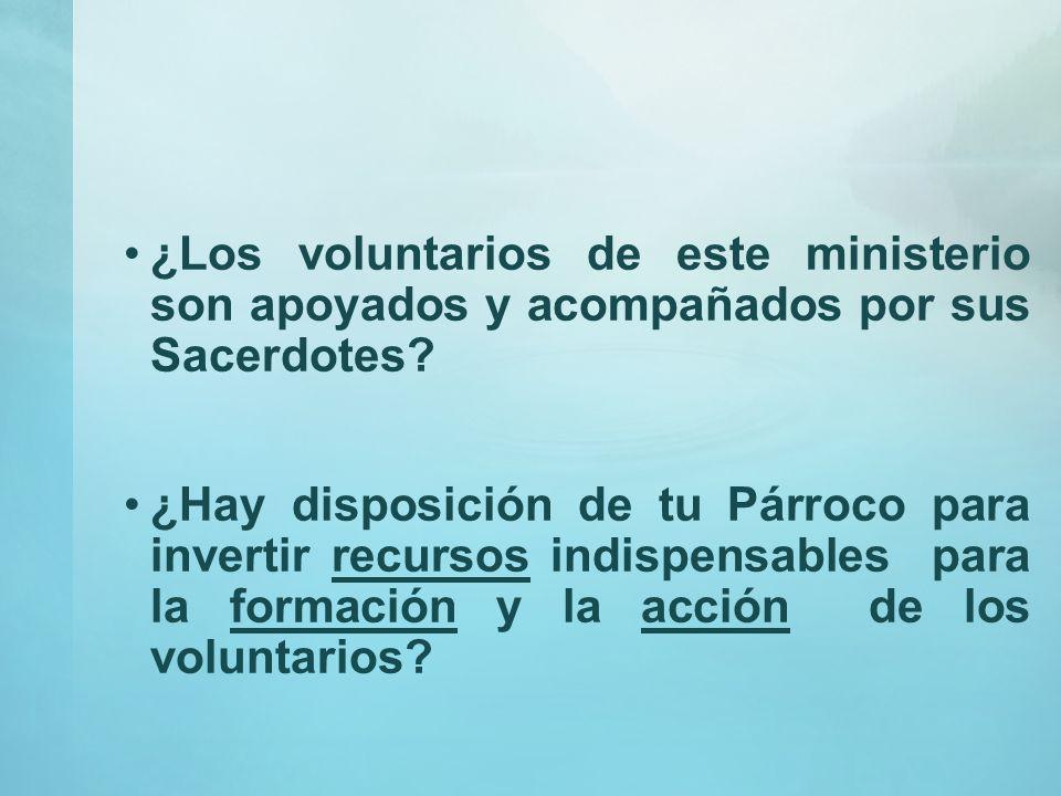 ¿Qué grado de interés hay en tu parroquia por el ministerio de la Caridad (Pastoral Social)? ¿Con qué grado de formación cristiana cuentan los volunta