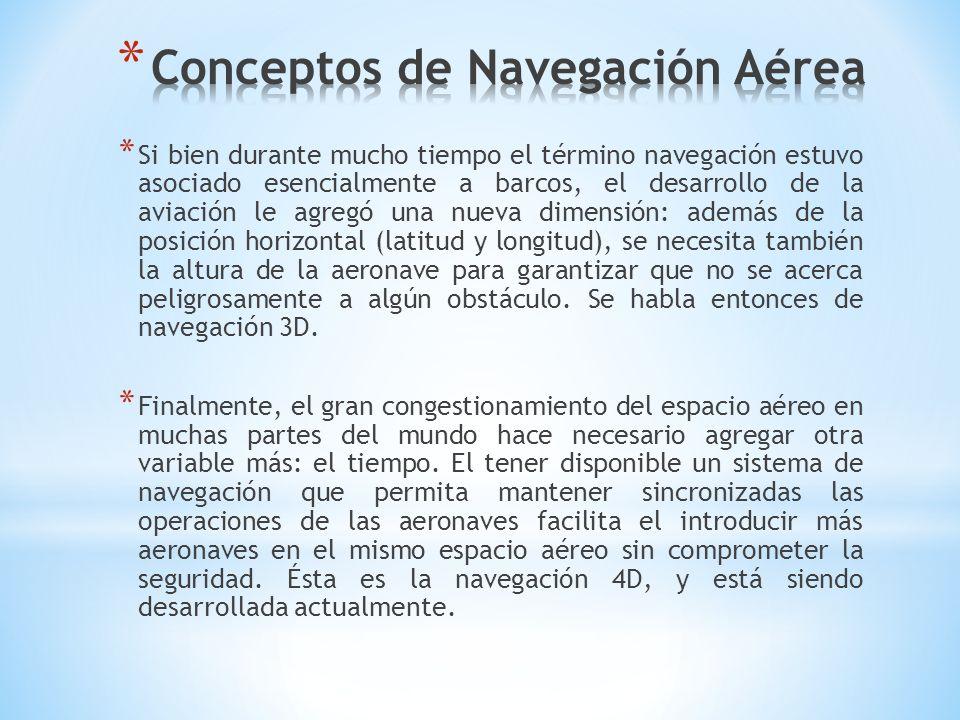 * Si bien durante mucho tiempo el término navegación estuvo asociado esencialmente a barcos, el desarrollo de la aviación le agregó una nueva dimensió