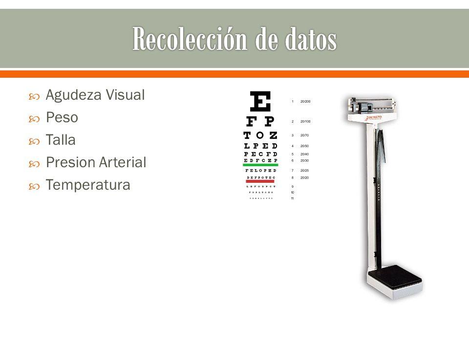 Agudeza Visual Peso Talla Presion Arterial Temperatura