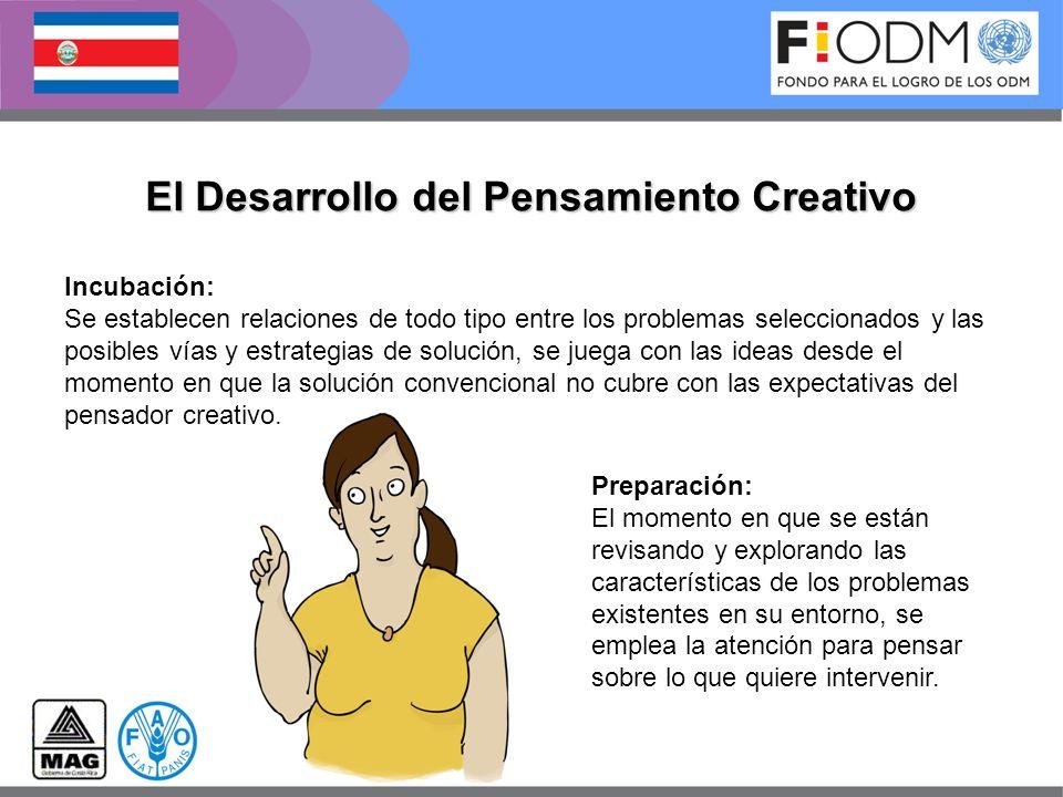 El Desarrollo del Pensamiento Creativo Preparación: El momento en que se están revisando y explorando las características de los problemas existentes
