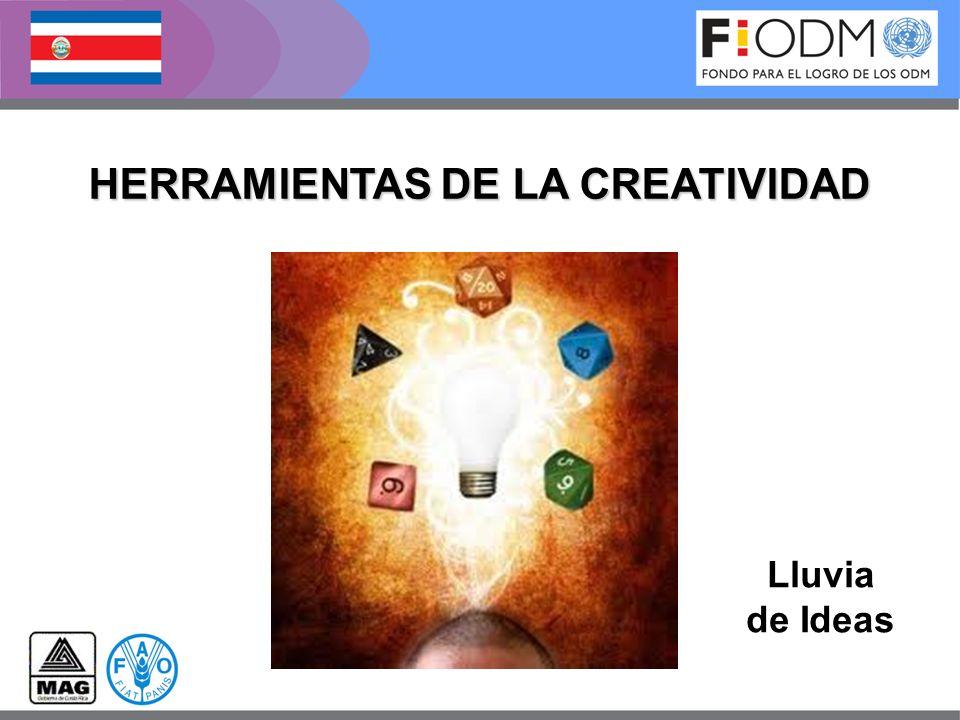 HERRAMIENTAS DE LA CREATIVIDAD Lluvia de Ideas