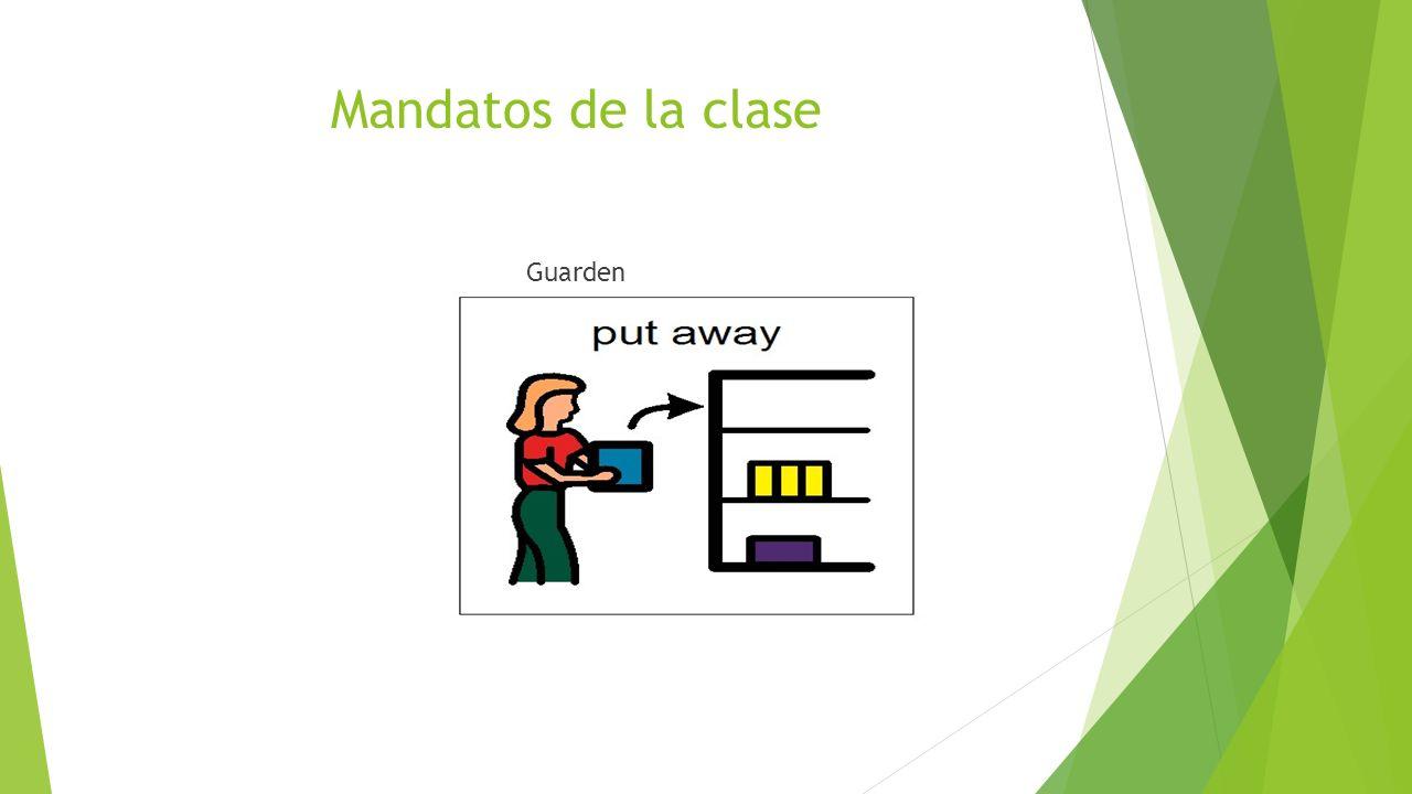 Mandatos de la clase Guarden