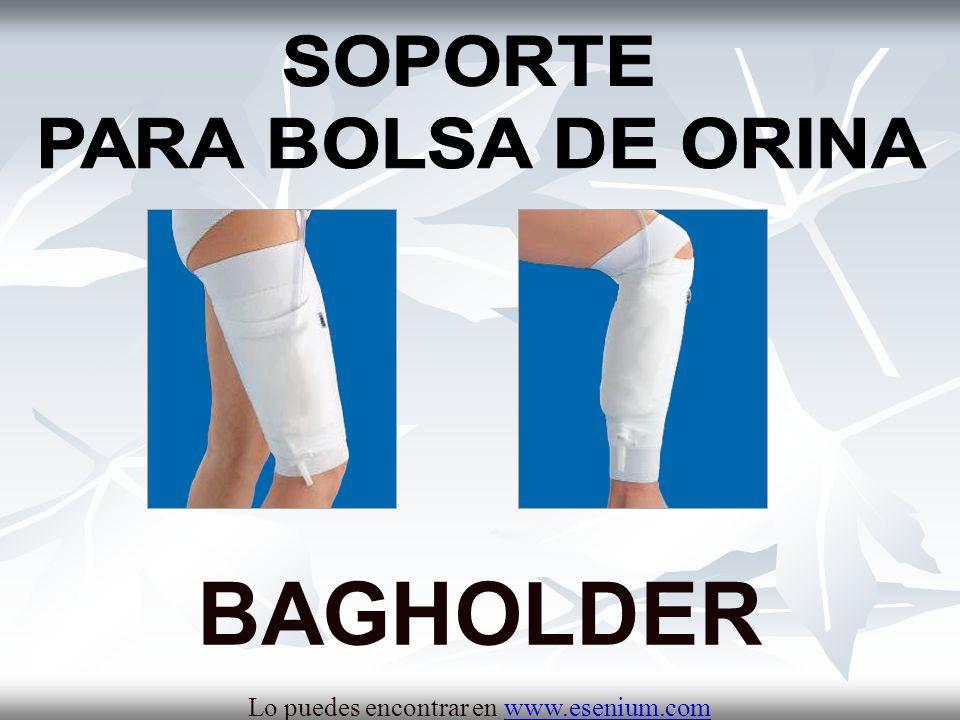 BENEFICIOS DE BAGHOLDER Aporta sujeción a la pierna: la bolsa de orina queda alojada en un bolsillo lateral.