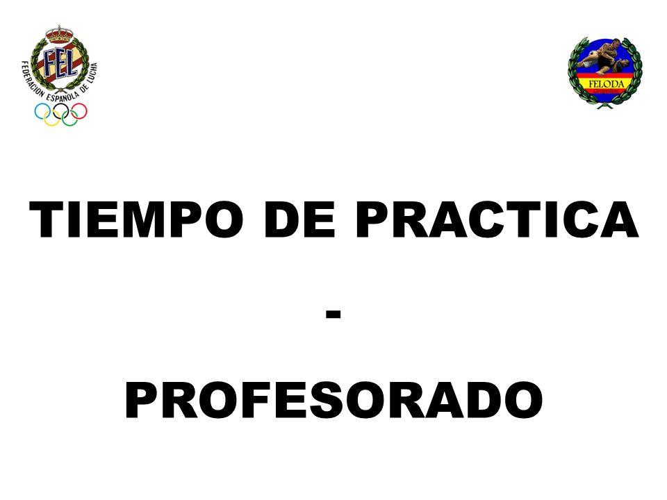 TIEMPO DE PRACTICA - PROFESORADO