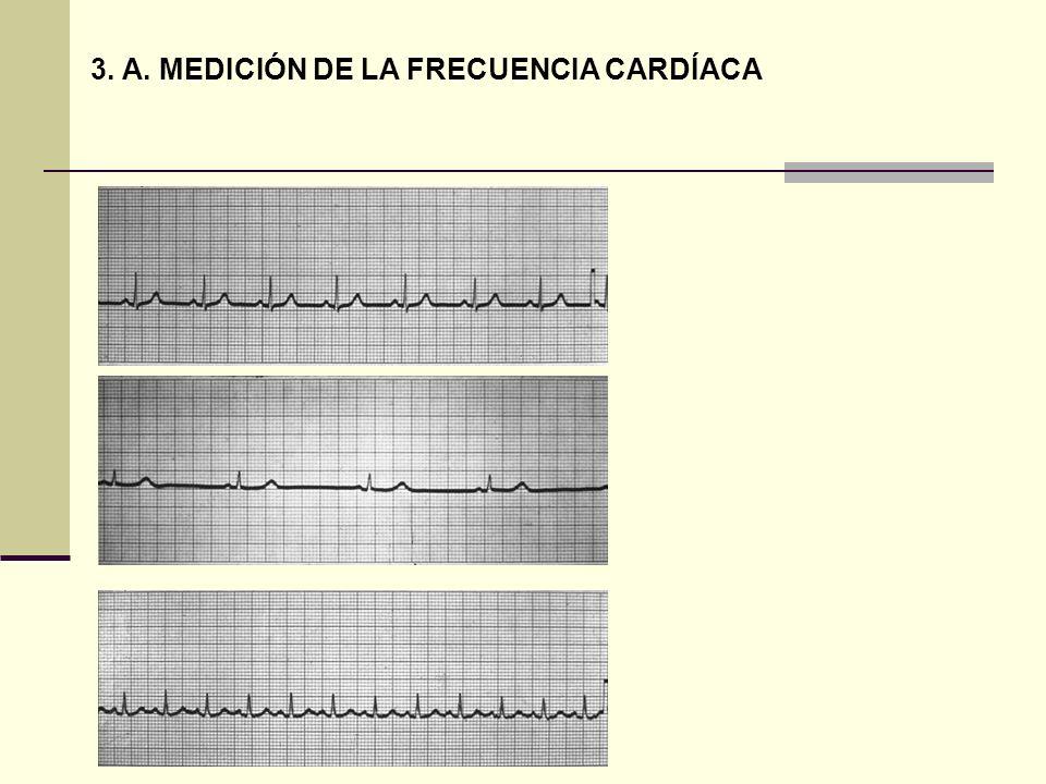 3. A. MEDICIÓN DE LA FRECUENCIA CARDÍACA