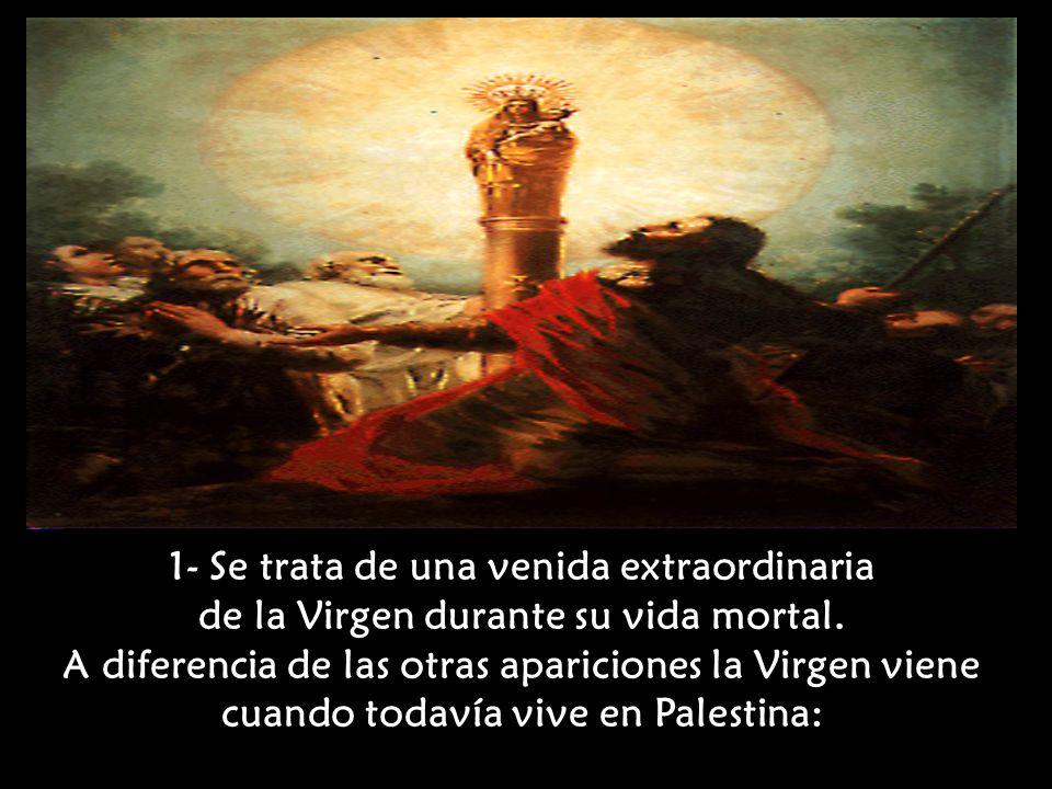Características de la Virgen del Pilar, que la distinguen de las otras apariciones: