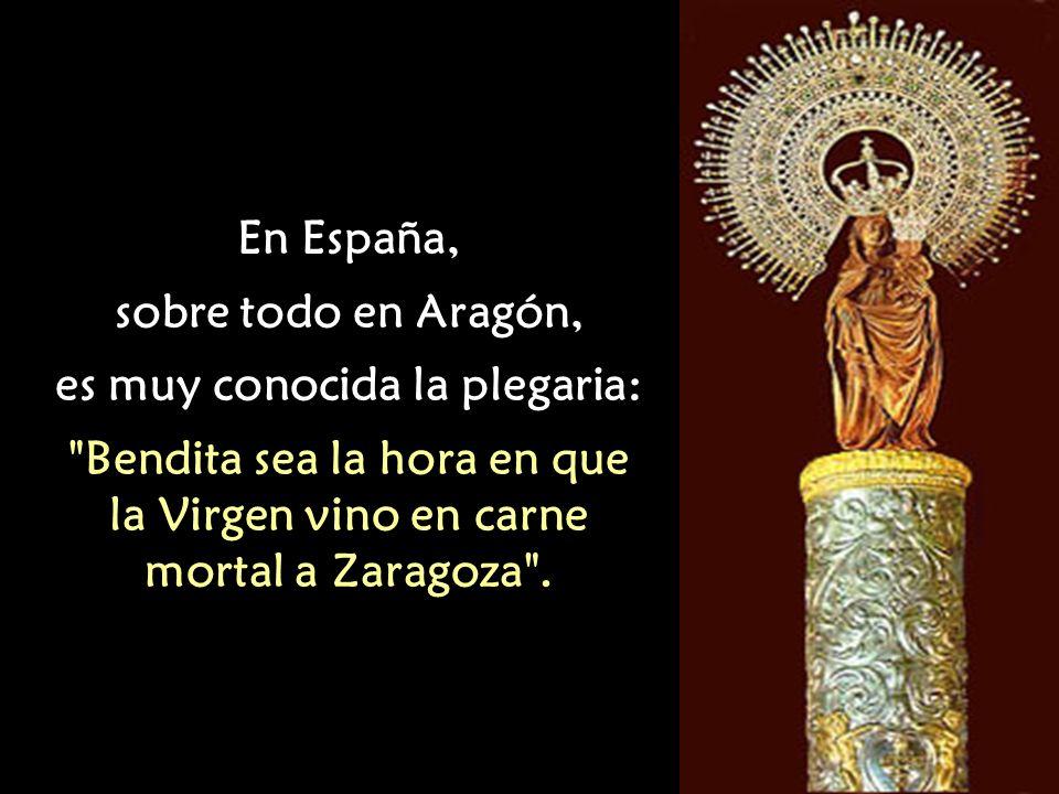 El Papa Clemente XII estableció la fecha del 12 de Octubre para la festividad de la Virgen del Pilar.