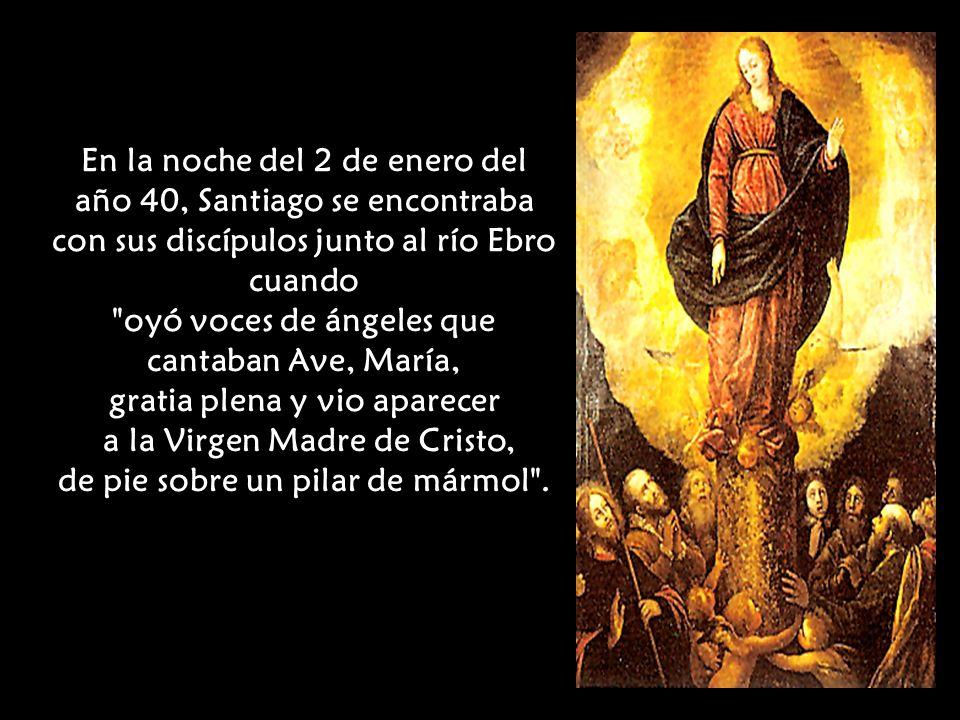 Allí predicó Santiago muchos días y, entre los convertidos eligió como acompañantes a ocho hombres, con los cuales trataba de día del reino de Dios, y por la noche, recorría las riberas para tomar algún descanso .