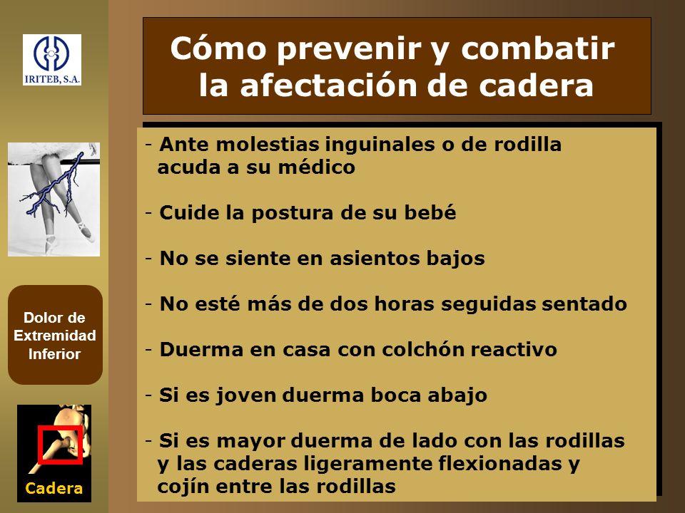 Dolor de Extremidad Inferior Cadera Cómo prevenir y combatir la afectación de cadera - Ante molestias inguinales o de rodilla acuda a su médico - Cuid