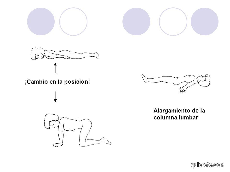 ¡Cambio en la posición! Alargamiento de la columna lumbar