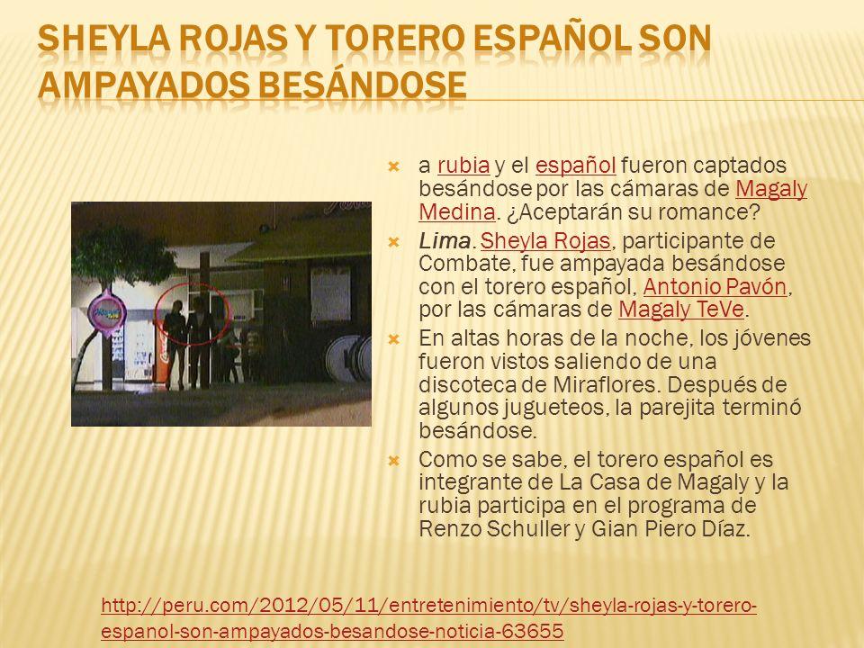 a rubia y el español fueron captados besándose por las cámaras de Magaly Medina.