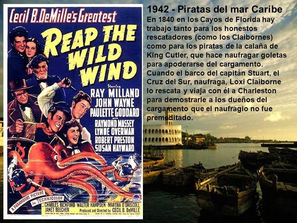 1937 - Capitanes intrépidos Oscar: Mejor actor (Spencer Tracy). Harvey Cheyne es un caprichoso y malcriado niño rico que está haciendo un crucero con