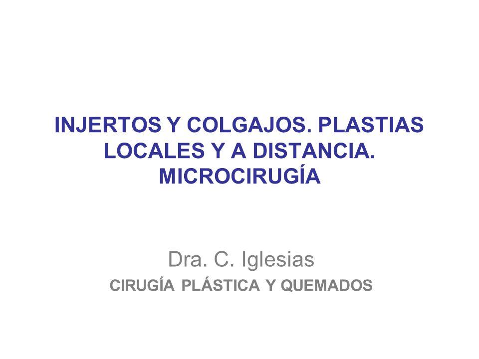 INJERTOS Y COLGAJOS.PLASTIAS LOCALES Y A DISTANCIA.