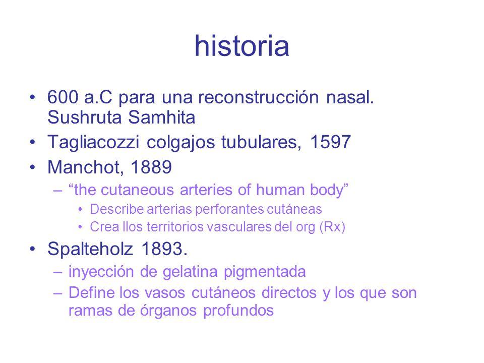 historia 600 a.C para una reconstrucción nasal.